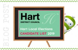 Hart District Council Local Elections 2019. Candidate List.