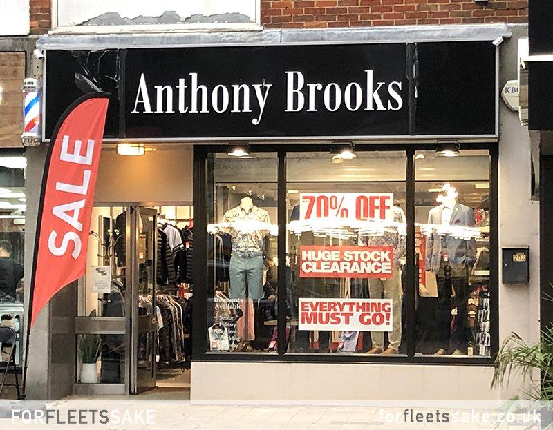 Anthony Brooks Menswear Fleet Hampshire