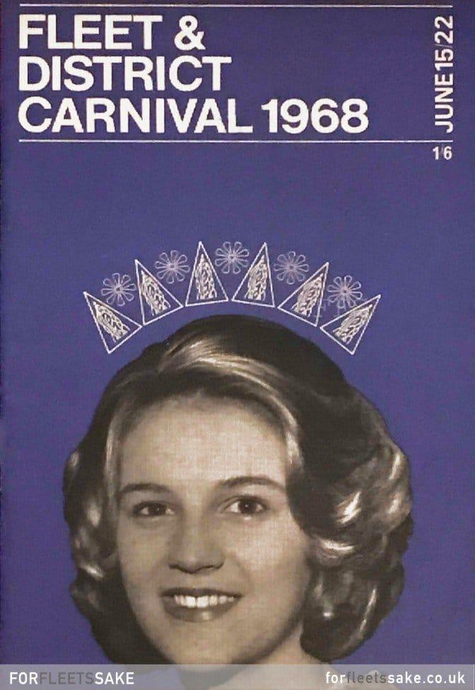 FLEET CARNIVAL PROGRAMME 1968. The Fleet and District Carnival programme cover for 1968. History Fleet Carnival Hants.