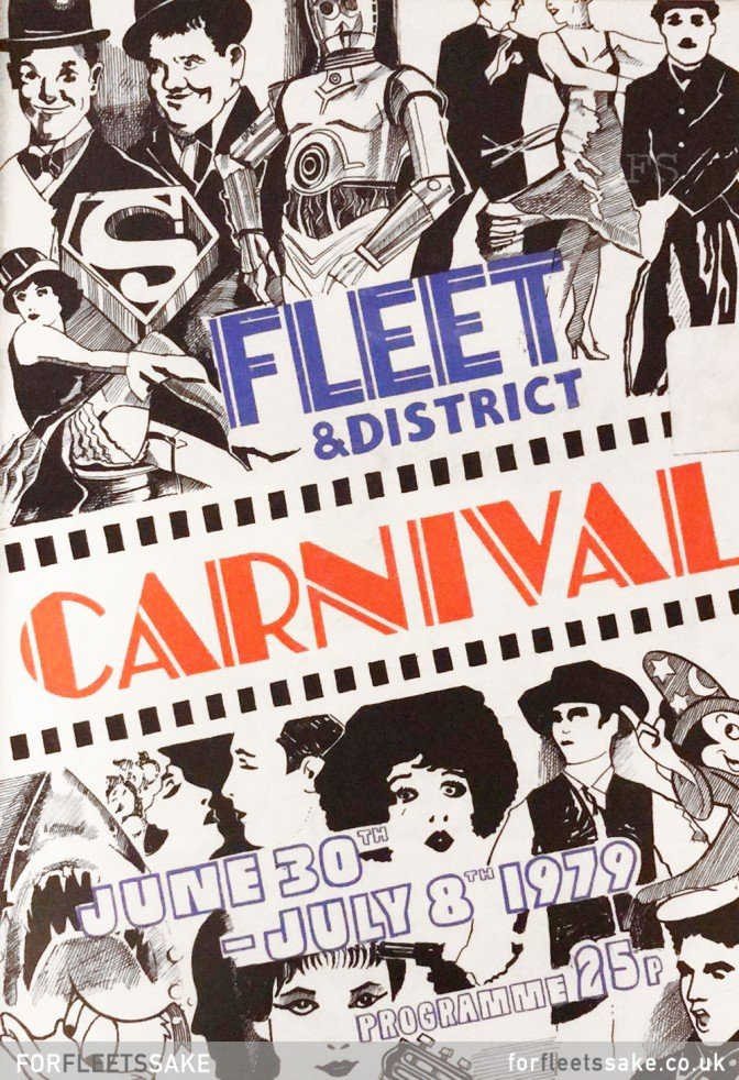 FLEET CARNIVAL PROGRAMME 1979. The Fleet and District Carnival programme cover for 1979..