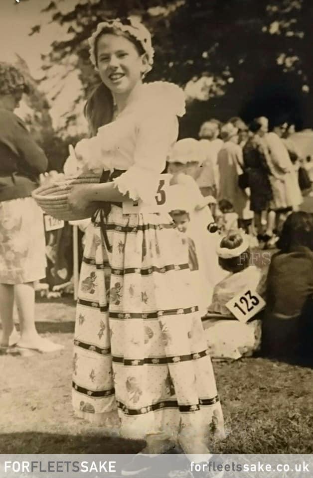 FLEET CARNIVAL 1965.Fleet Carnival Children's Procession 1965. Karen Smith dressed as Nell Gwynne at The Views Meadow.. History of Fleet Carnival.