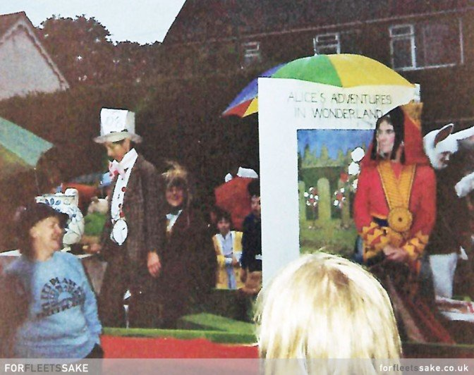 FLEET CARNIVAL 1983. The Fleet Players in Fleet Carnival parade 1983.