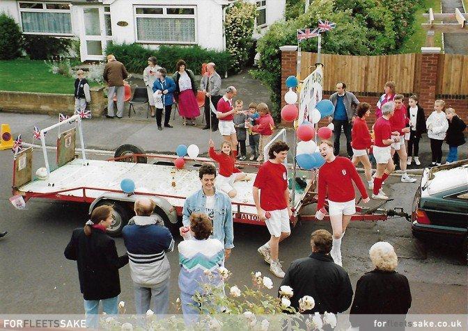 FLEET CARNIVAL 1991. The Fleet Players in Fleet Carnival parade 1991.