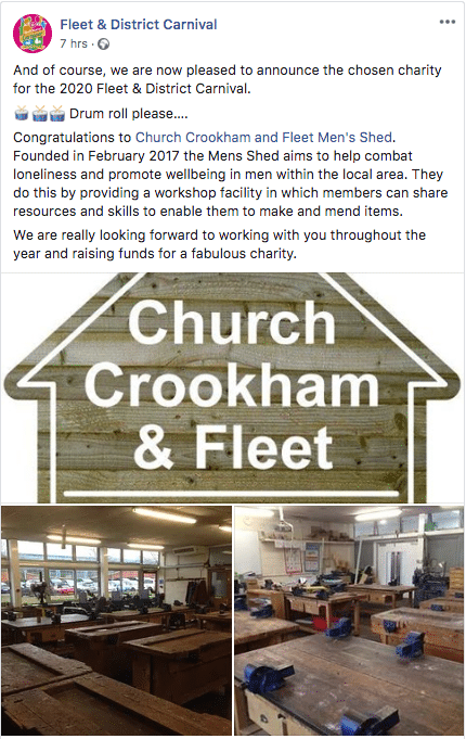 FLEET CARNIVAL 2020 SUPPORTS MENS SHED