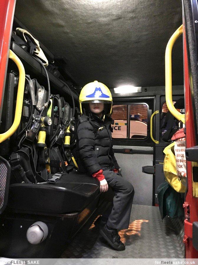 FLEET FIRE STATION AT THE FESTIVITIES. Children visit the Fire Engine from Fleet Fire Station..