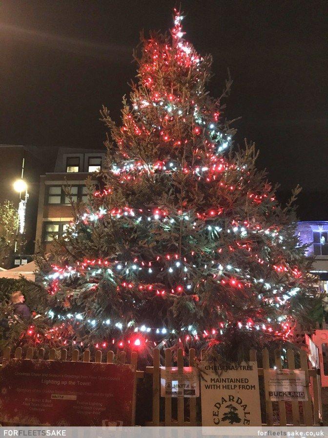 THE FLEET CHRISTMAS TREE 2019. The annual Fleet Christmas Tree in Gurkha Square 2019.