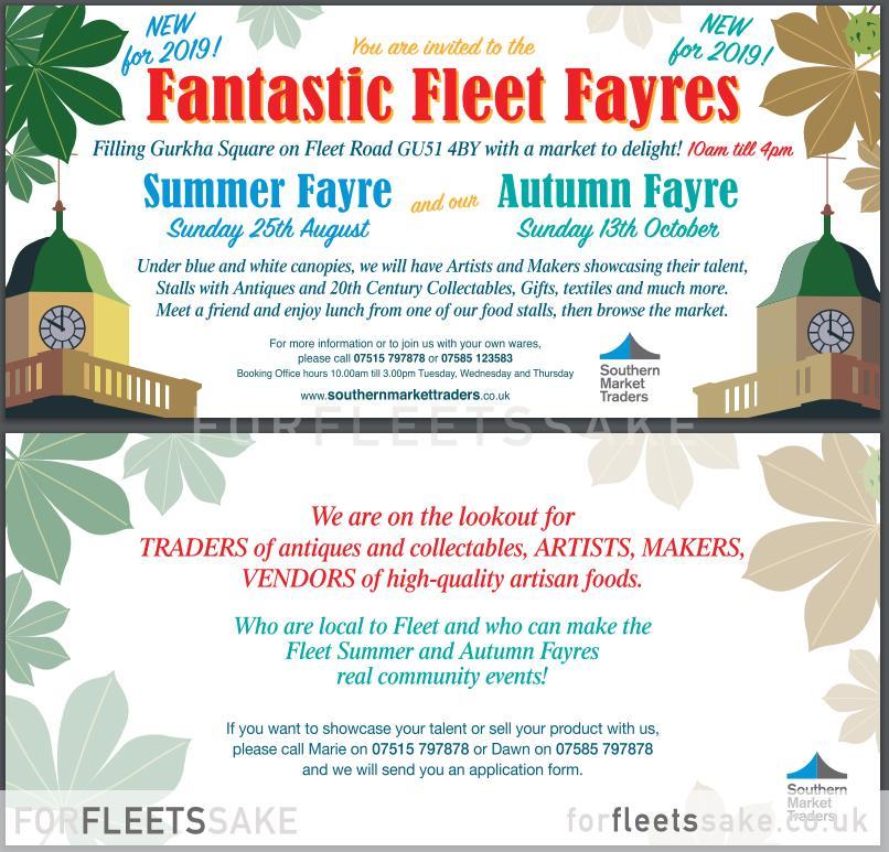 Fantastic Fleet Fayres, Announced by Fleet Town Council.
