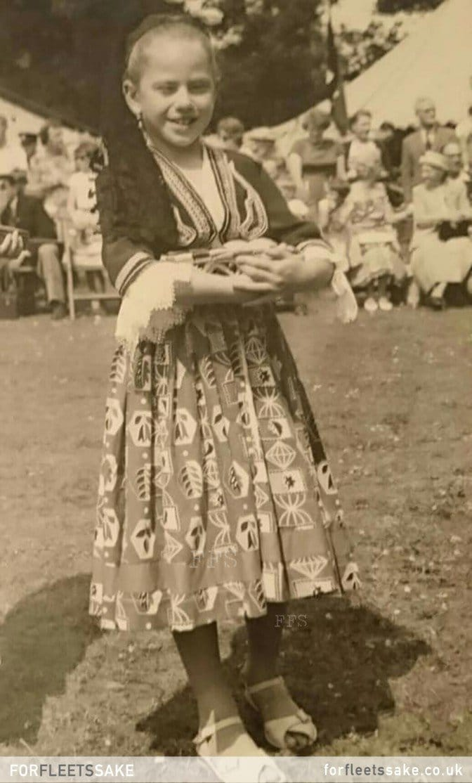 FLEET CARNIVAL 1961. Fleet Carnival 1961, Karen Smith dressed as a Greek Cypriot girl at The Views in Fleet. History of Fleet Carnival.