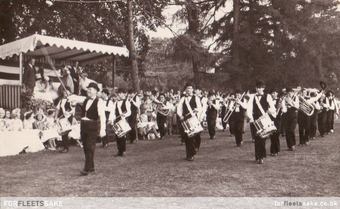 FLEET CARNIVAL 1961. Fleet Carnival 1961, featuring members of the band in suits and bowler hats.