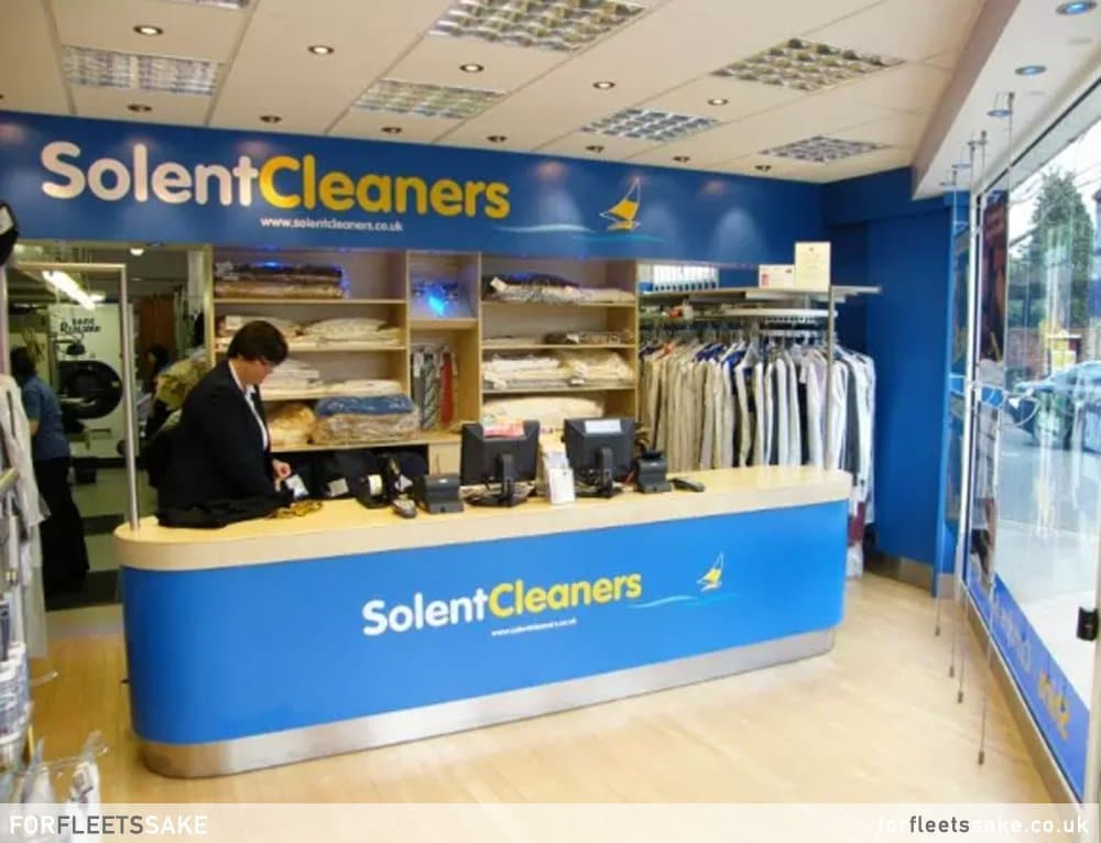 Inside Solent Cleaners before it closed down in December 2019.