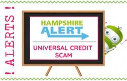 Hampshire Alert - Universal Credit Scam