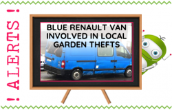 Blue Renault Van Involved in Garden Thefts