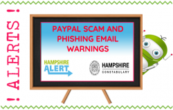 PayPal Scam and Action Fraud Email Warning