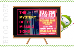 The Mystery of the Missing Boot Fair Signs
