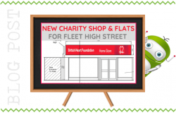 New Charity Shop and Flats in Fleet Road