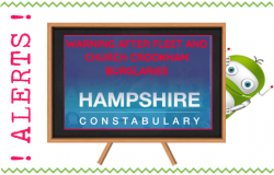 Warning After Fleet and Church Crookham Burglaries