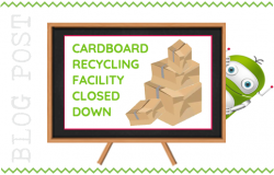 Cardboard Recycling Facility Closed Down