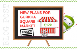 Fleet Town Council to Run New Gurkha Square Market at a Cost. Fleet Hants.