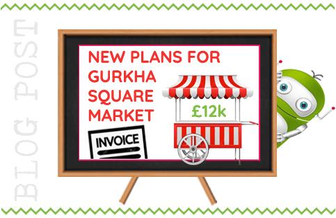 Fleet Town Council to Run New Gurkha Square Market at a Cost. Fleet Hants.