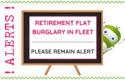 Retirement Flat Burglary in Fleet