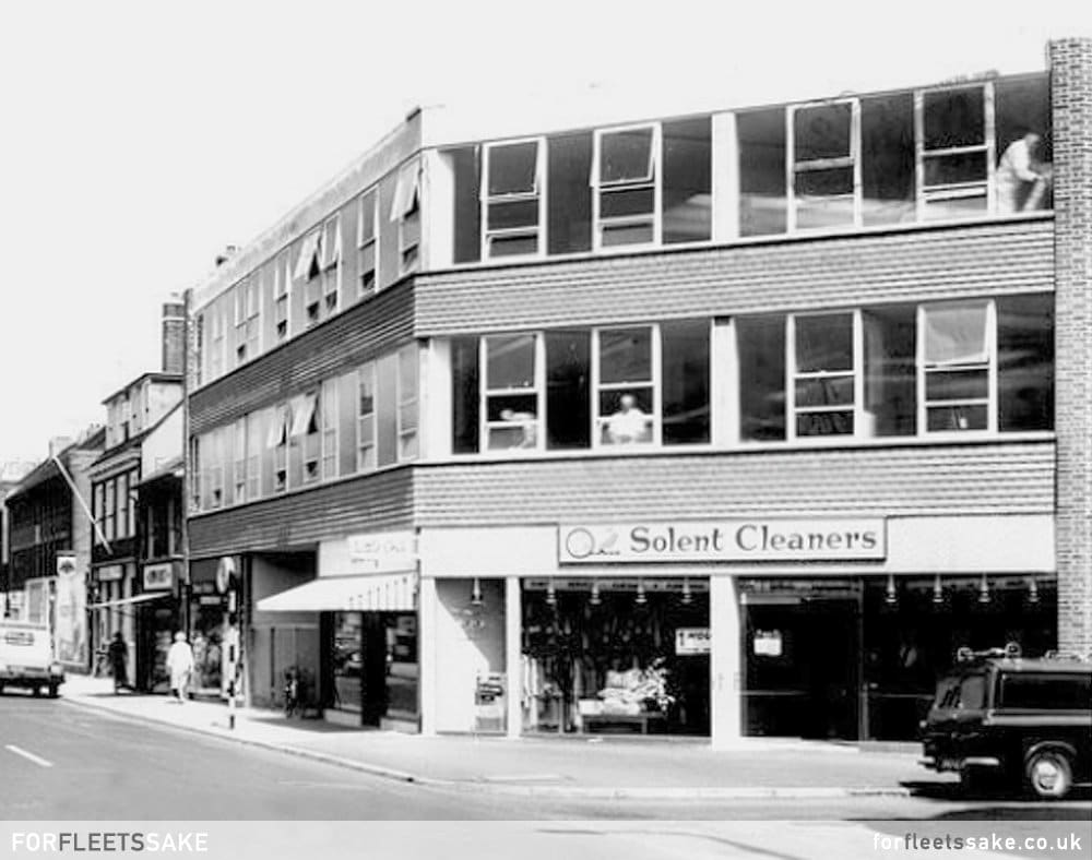 Solent Cleaners Fleet Road, pictured in 1965. Closed down 14th December 2019.