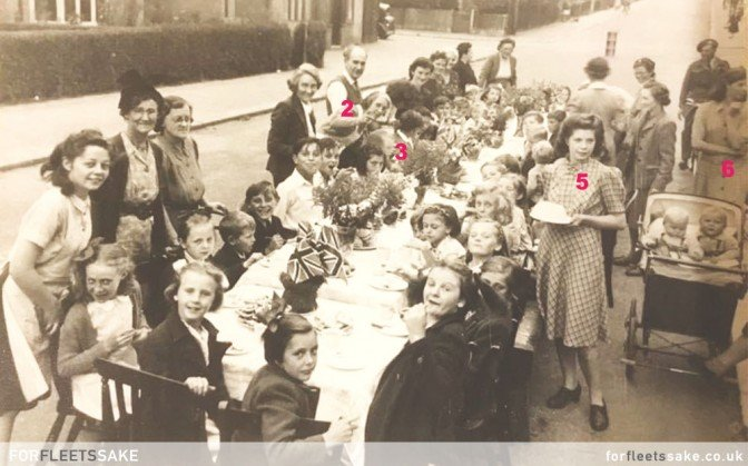VE DAY CELEBRATIONS - 8TH MAY 1945 - FLEET HAMPSHIRE