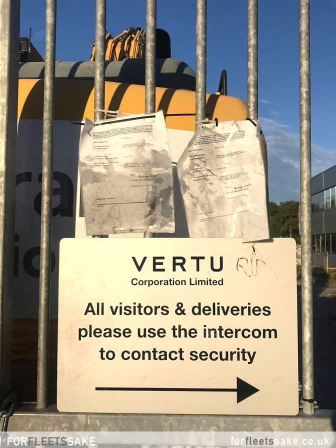 VERTU BUILDING MAY 2020 - Saying goodbye to the Vertu building in Church Crookham as it is demolished.